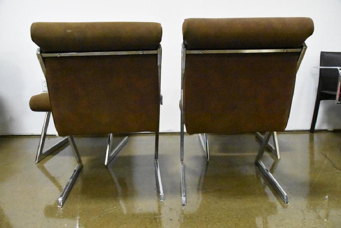 Chrome Z-Chairs by Milo Baughman for DIA - 10