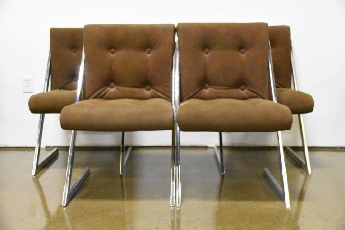 Chrome Z-Chairs by Milo Baughman for DIA
