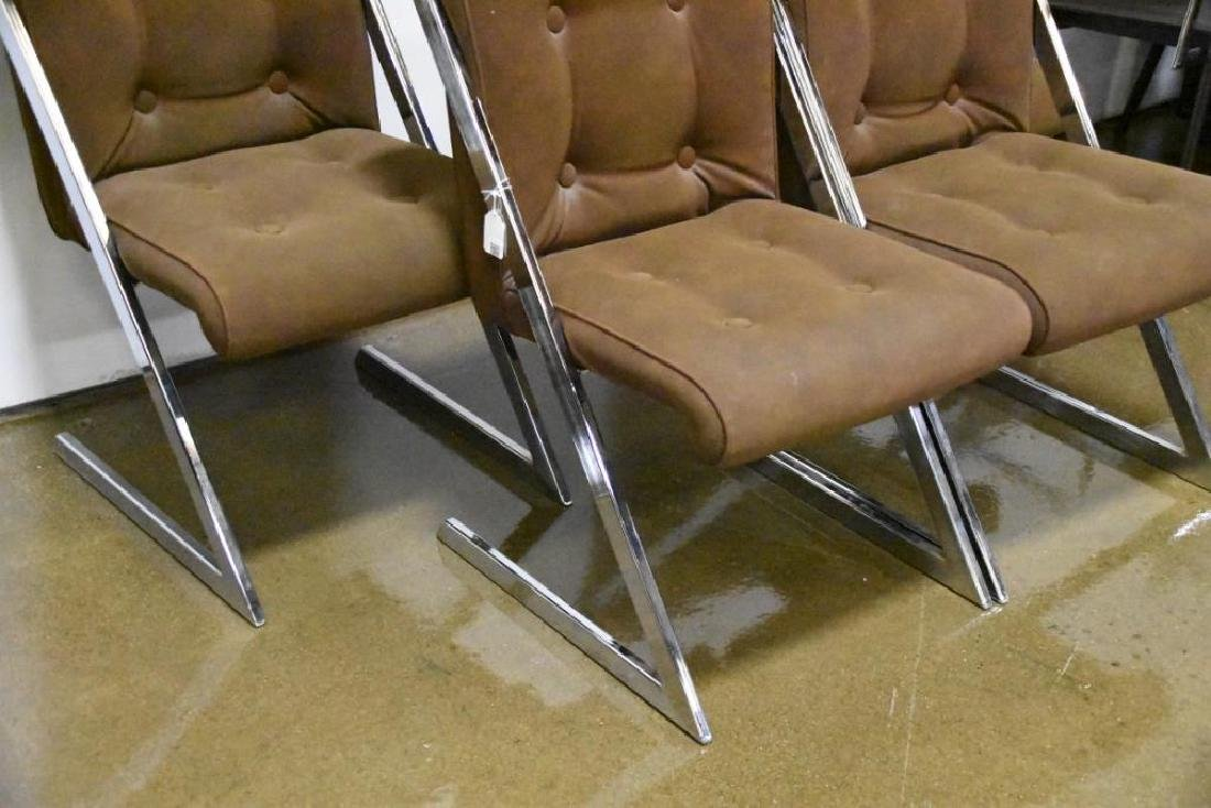 Chrome Z-Chairs by Milo Baughman for DIA - 3