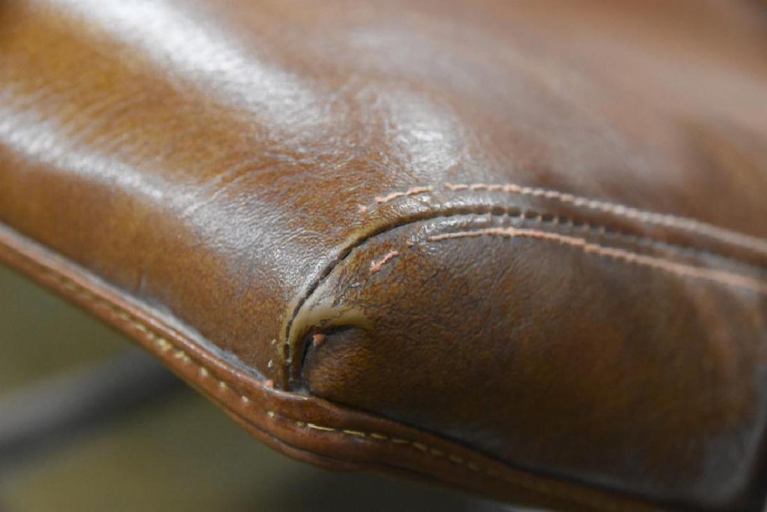 Milo Baughman Leather Chrome Arm Chair - 6