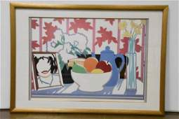 """Tom Wesselmann, Serigraph, """"Still Life with Fruit,"""