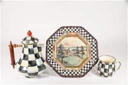 Mackenzie Childs Checkered Set
