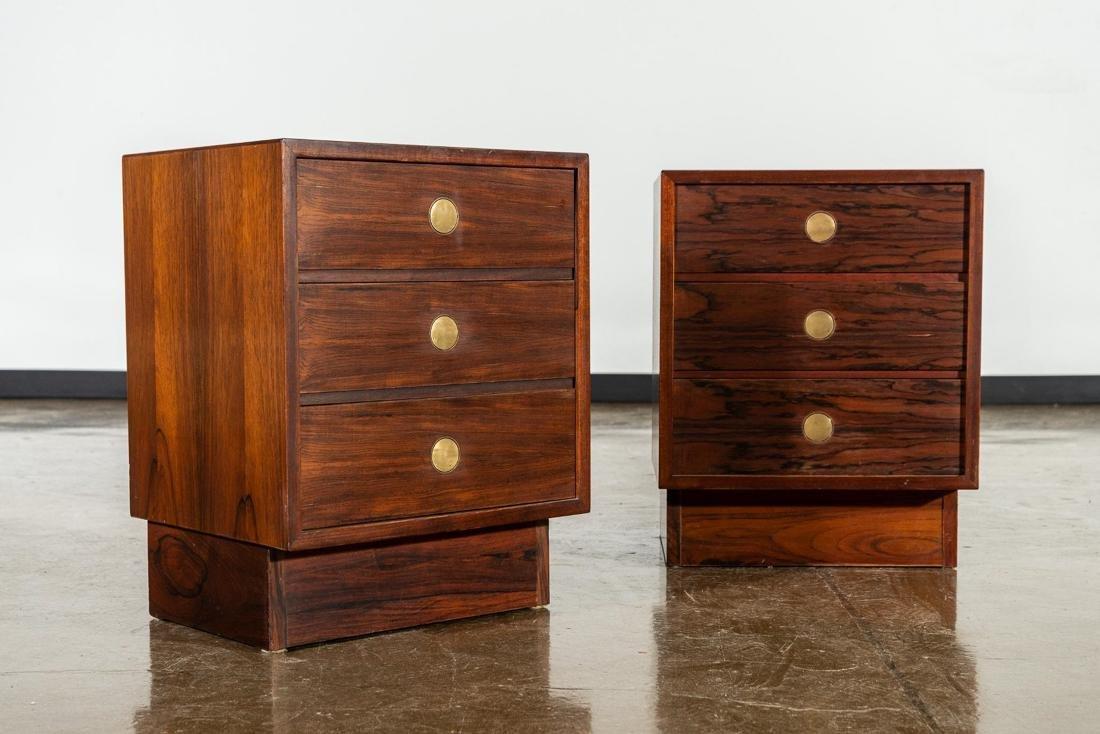 Pair of Dyrlund-Smith Modern Rosewood Nightstands