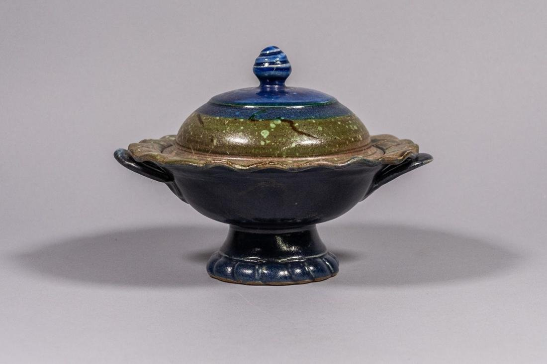 John Glick Plum Tree Pottery Lidded Bowl