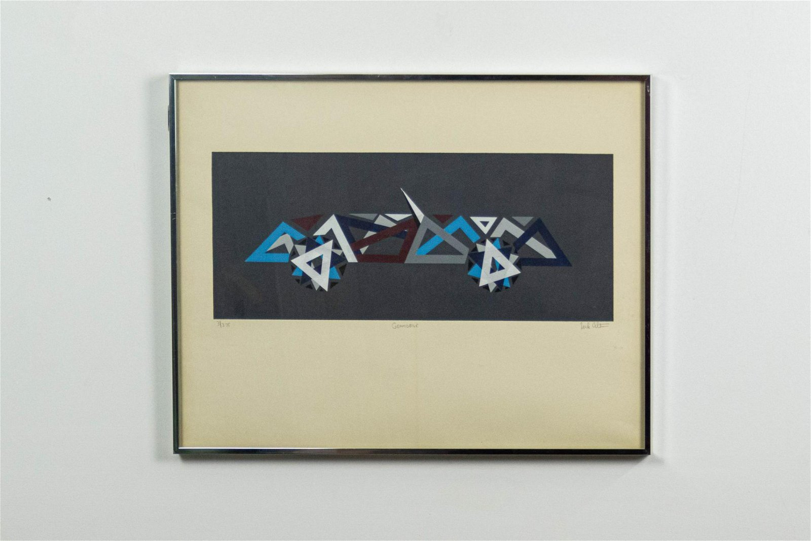 """""""Geomobile"""" Mike Altman Serigraph, Framed, Signed and"""