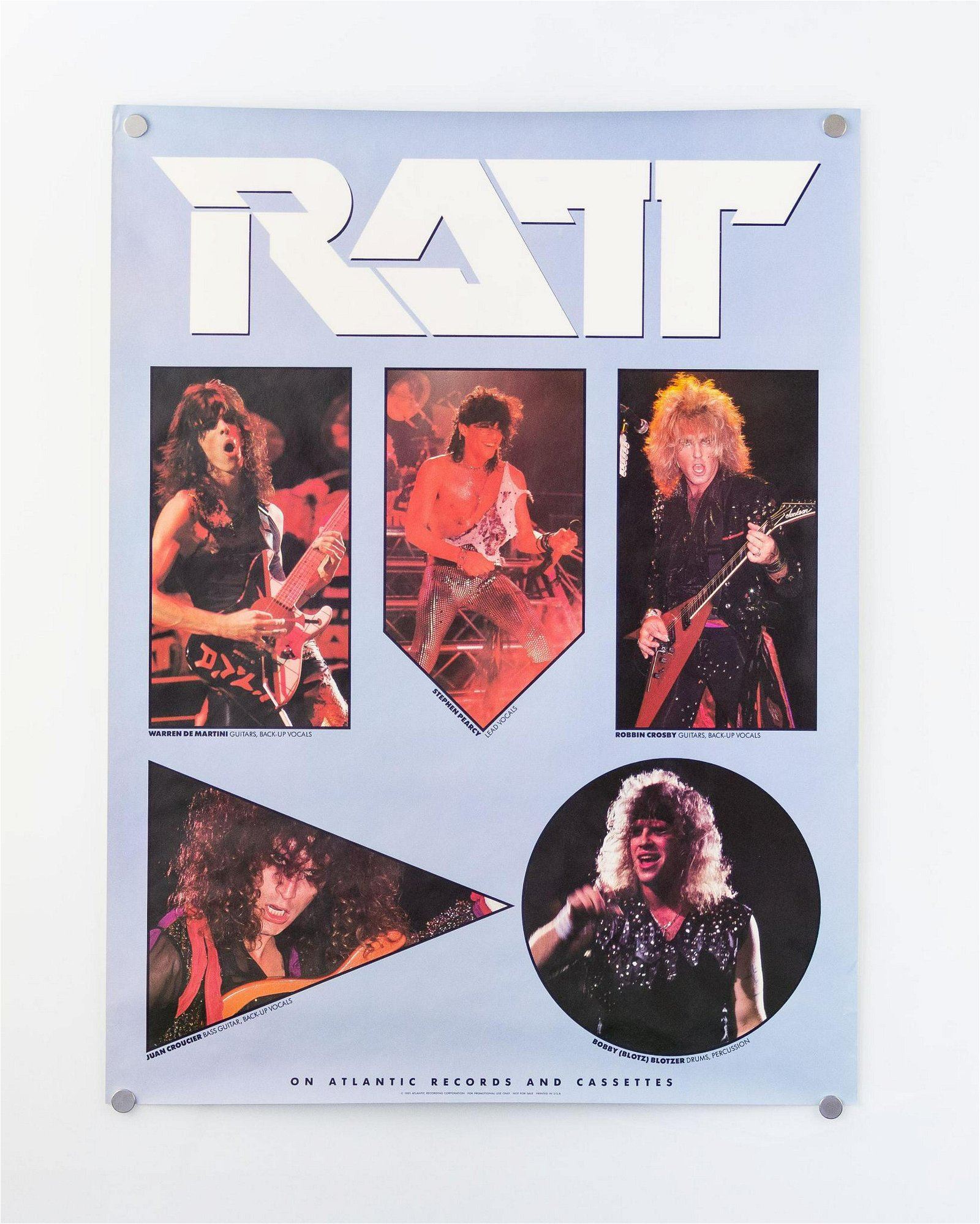 Lot of Two (2) Vintage Ratt Posters