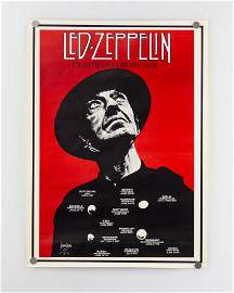 Lot of Two (2) Vintage Led Zeppelin Posters