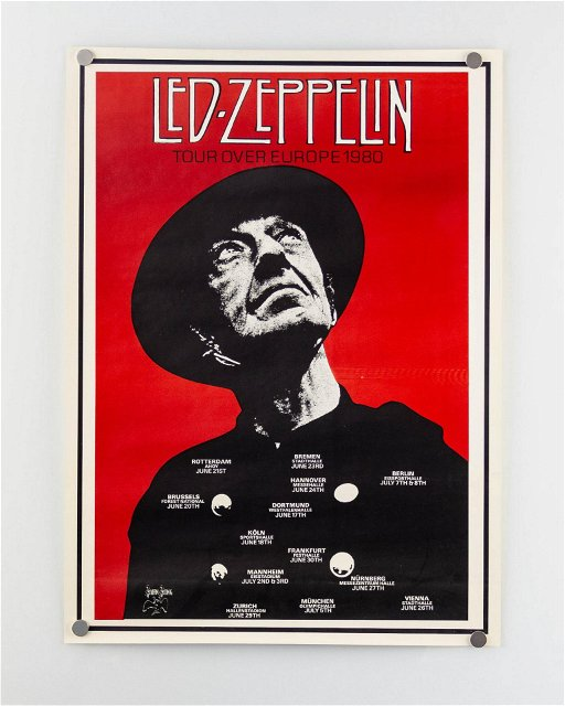 Lot Of Two 2 Vintage Led Zeppelin Posters Aug 25 2019 Block Auction House In Mi