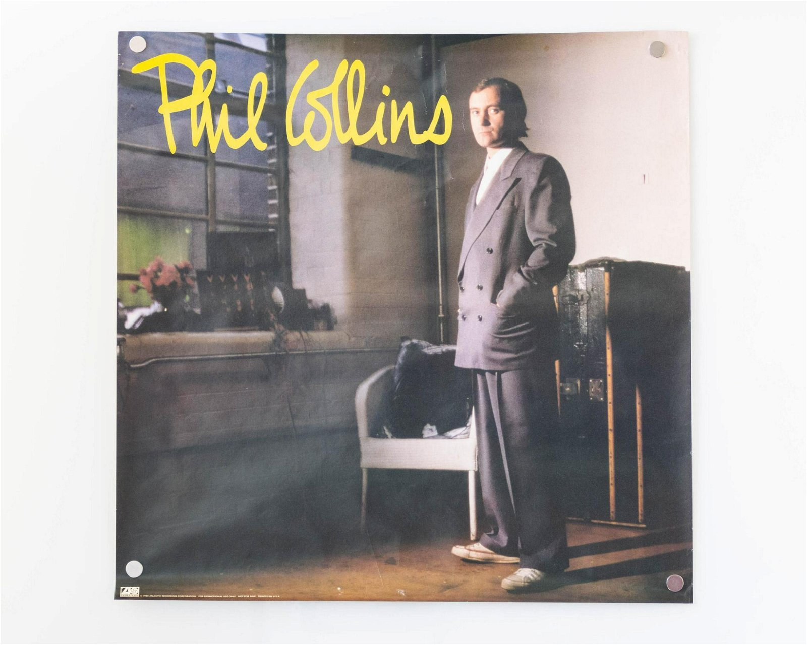 Lot of Two (2) Vintage Phil Collins Posters