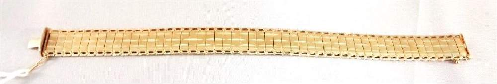 14K Solid Gold Herringbone Edged Bracelet .42 Troy