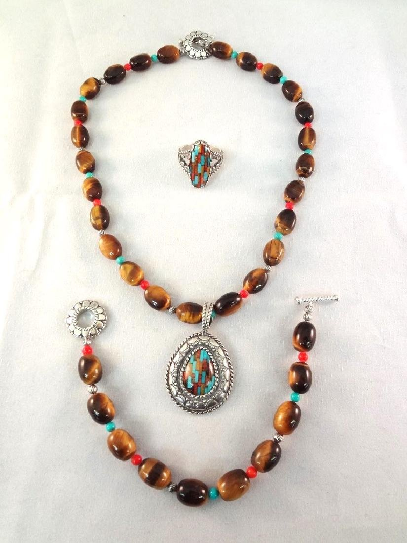 Carolyn Pollack Sterling Silver Matching Jewelry Suite: