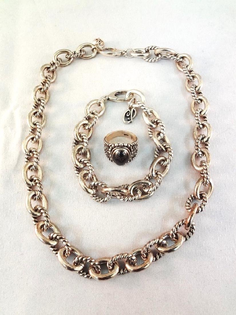 Carolyn Pollack Heavy Chunky Solid Sterling Necklace,