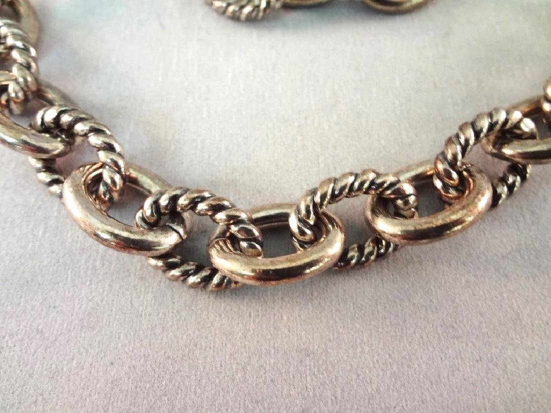 Carolyn Pollack Heavy Chunky Solid Sterling Necklace, - 2