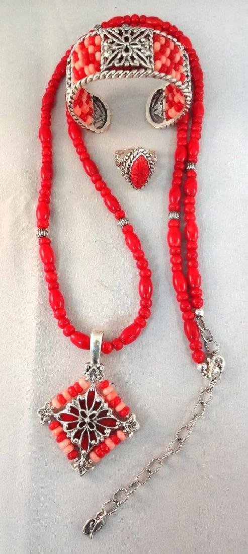 Carolyn Pollack Sterling Silver Shades of Coral