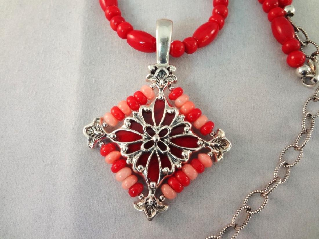 Carolyn Pollack Sterling Silver Shades of Coral - 2