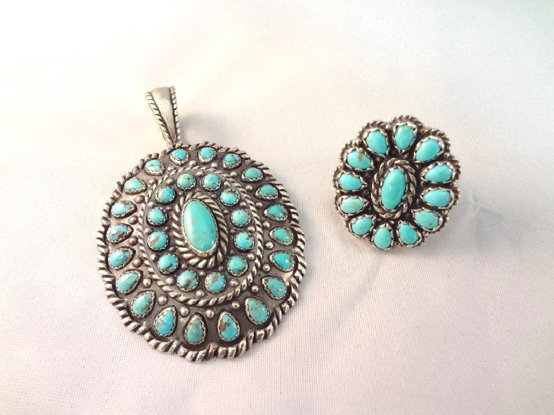 Carolyn Pollack Relios Sterling Turquoise Cabochon