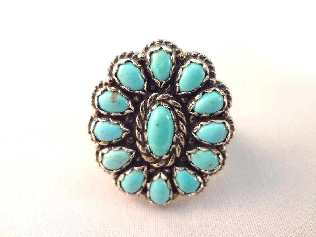 Carolyn Pollack Relios Sterling Turquoise Cabochon - 4