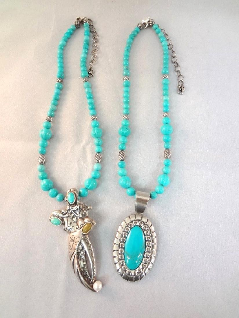 Carolyn Pollack Sterling Silver and Turquoise Necklace