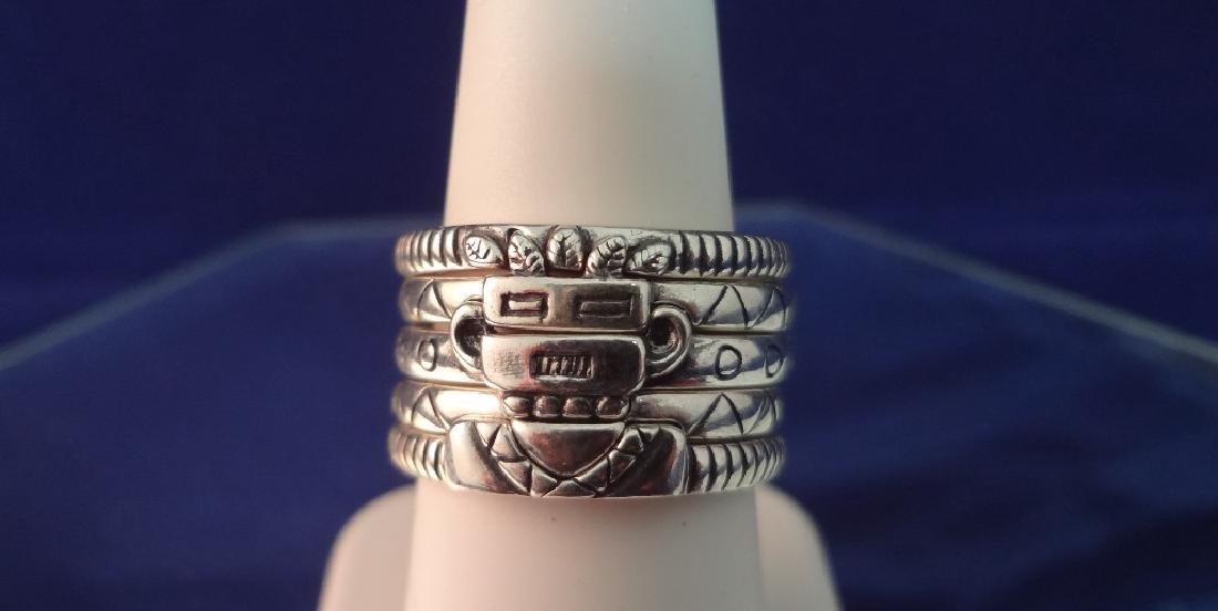 Carolyn Pollack Sterling Silver Kachina (5) Stackable
