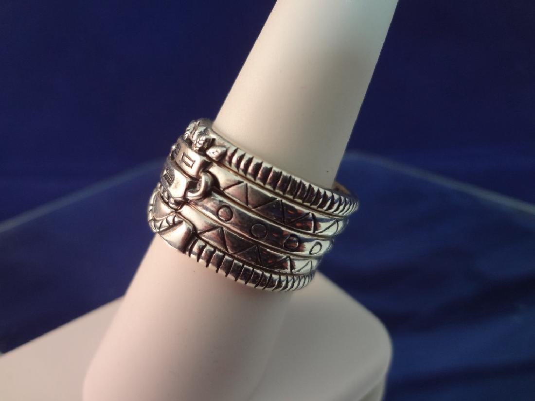 Carolyn Pollack Sterling Silver Kachina (5) Stackable - 2