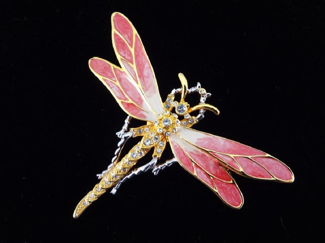Nolan Miller Vintage Brooches: Lobster, Dragonfly, - 4
