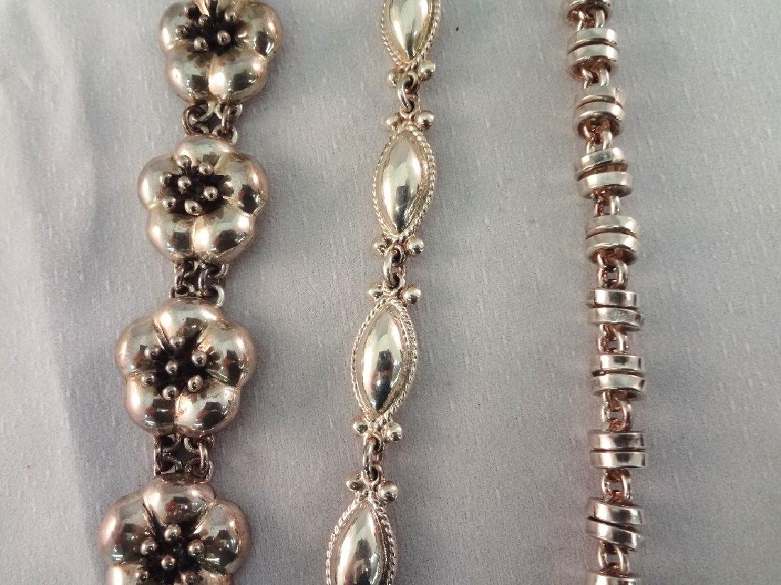 CII Mexican Sterling Silver Jewelry Group: (3) - 5