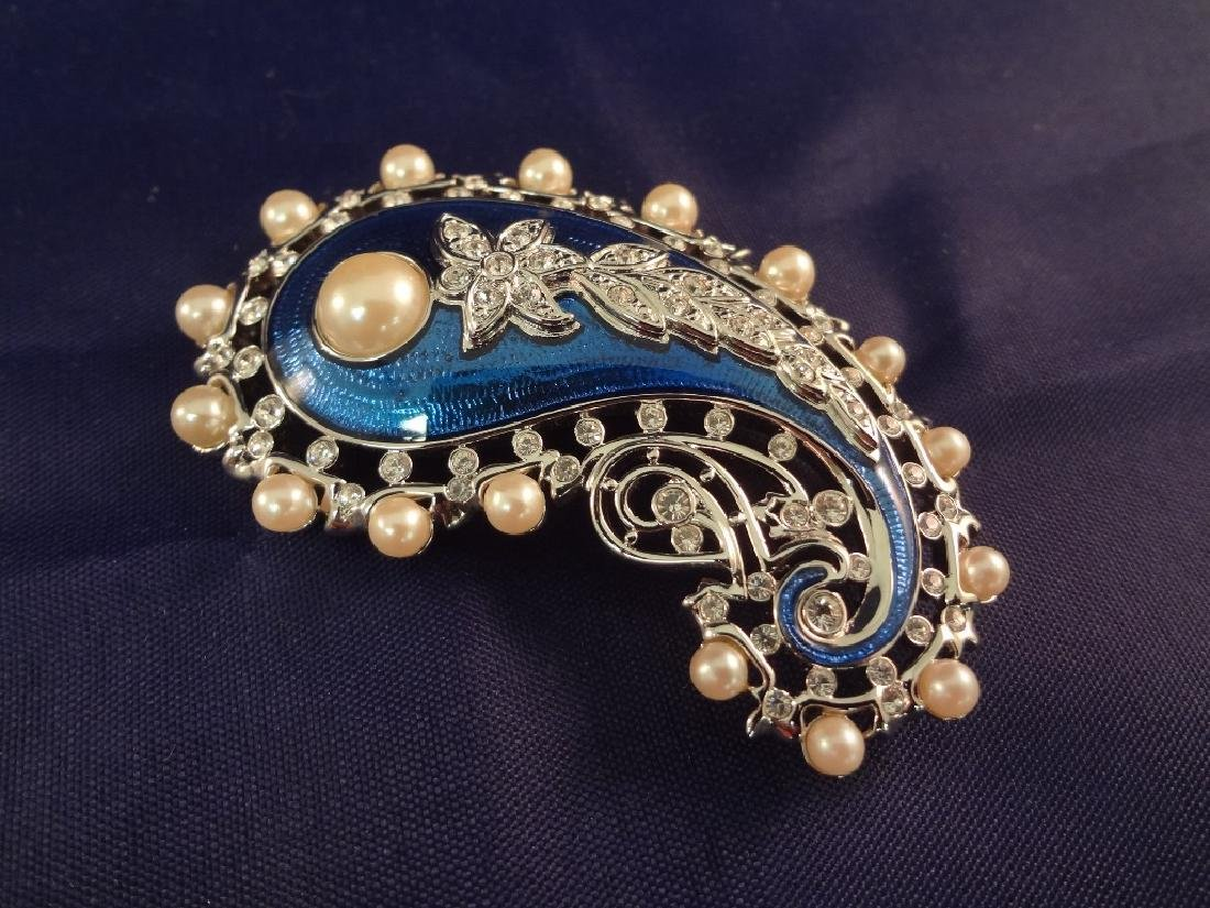 (3) Kenneth Jay Lane Enameled and Rhinestone Brooches - 4