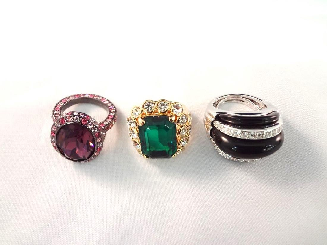 (3) Kenneth Jay Lane Chunky Cocktail Rings
