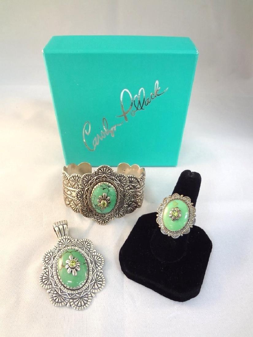Carolyn Pollack Sleeping Beauty Cuff, Ring, Pendant