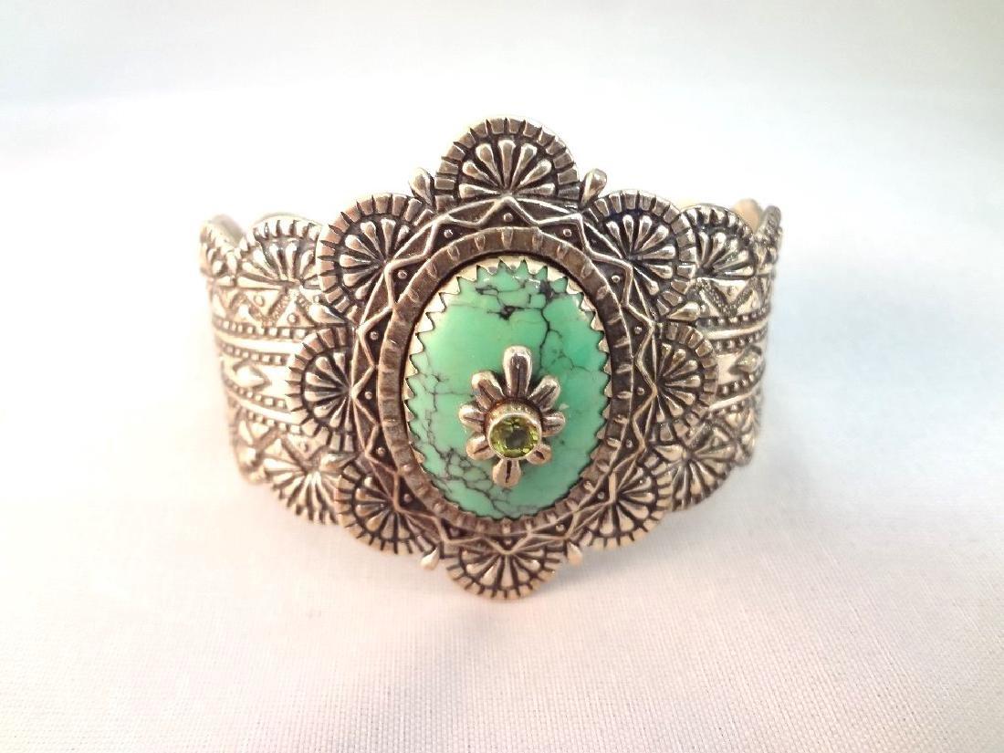 Carolyn Pollack Sleeping Beauty Cuff, Ring, Pendant - 2