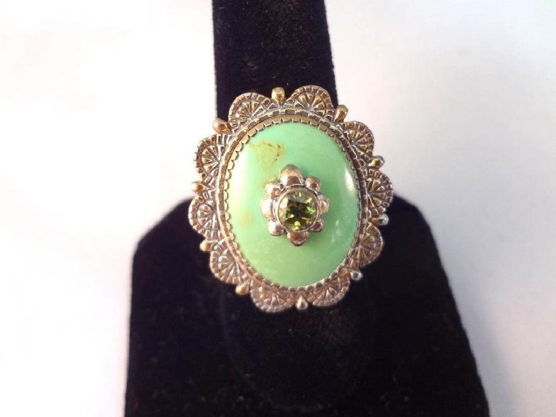 Carolyn Pollack Sleeping Beauty Cuff, Ring, Pendant - 6