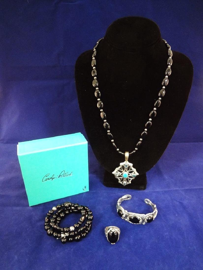 Carolyn Pollack Sterling Silver Onyx Jewelry Suite: