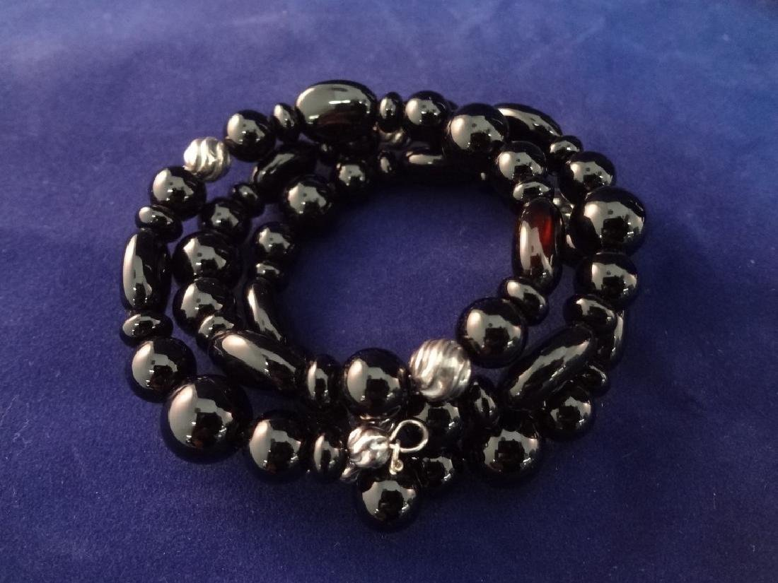 Carolyn Pollack Sterling Silver Onyx Jewelry Suite: - 2