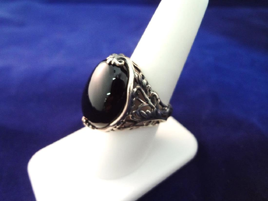 Carolyn Pollack Sterling Silver Onyx Jewelry Suite: - 3