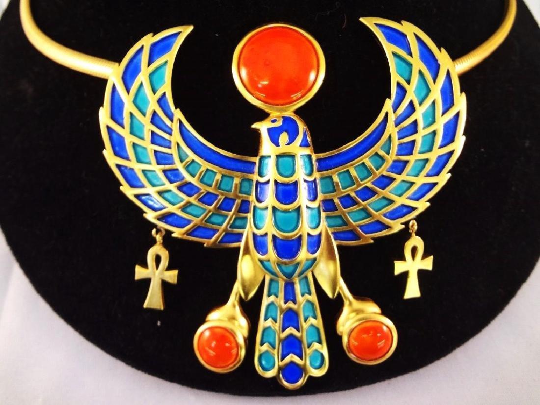 Massive Trifari Egyptian Revival Horus and Ra - 2