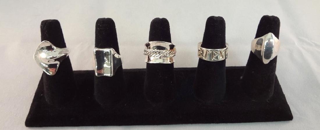 (5) Robert Lee Morris Sterling Silver Rings
