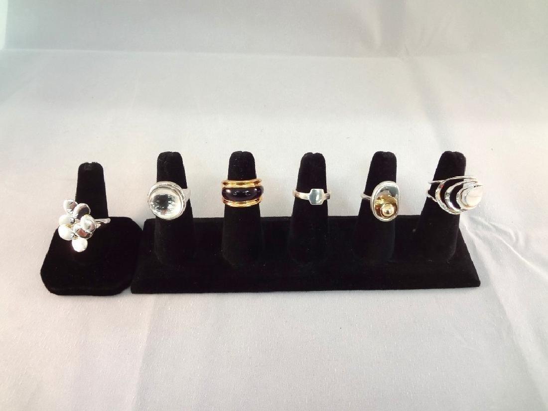 (6) Robert Lee Morris Studio Sterling Silver Rings