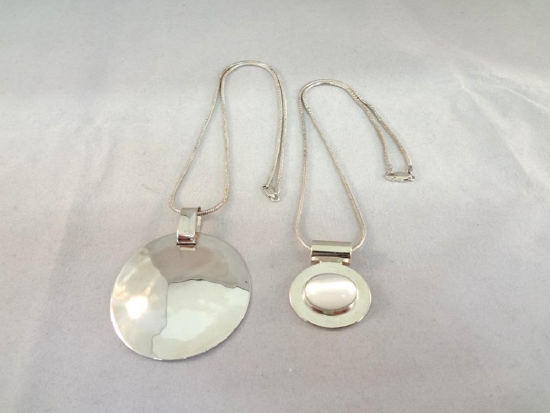 (2) Sterling Silver Necklaces, and Pendants RLM One