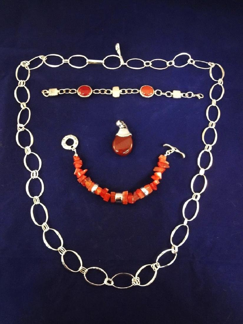 Robert Lee Morris Sterling Silver Jewelry: Necklace,