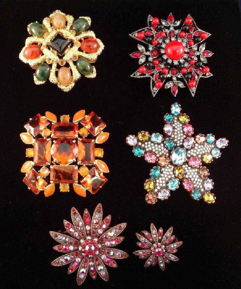 (6) Joan Rivers Vintage Swarovski Rhinestone/Enameled