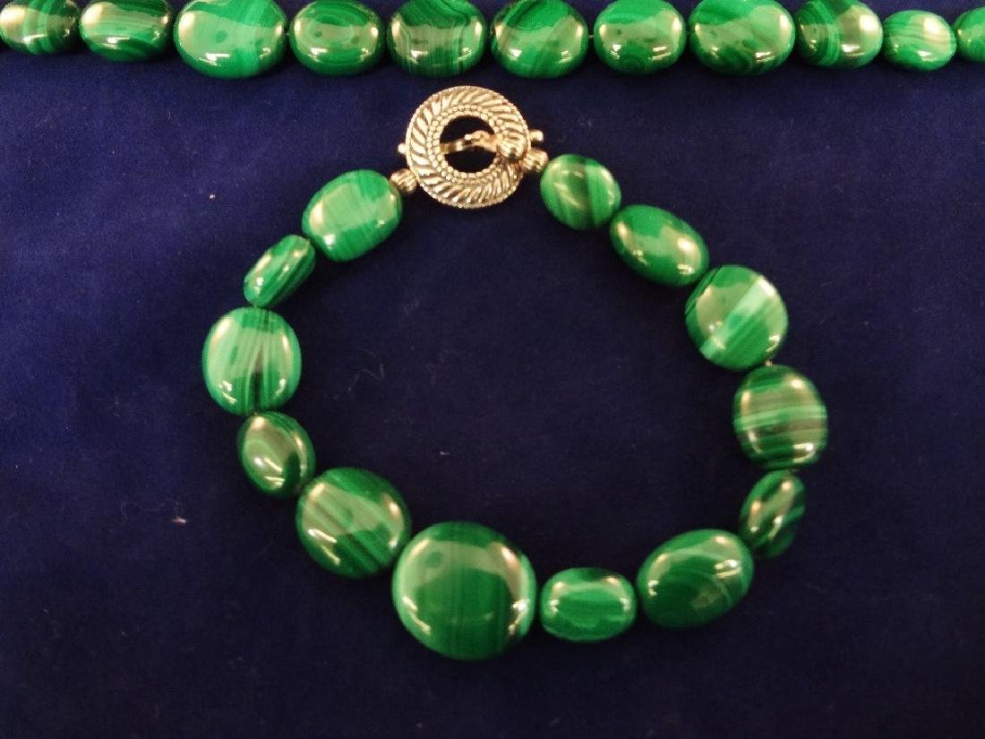 Carolyn Pollack Malachite Sterling Silver Jewelry Suite - 4