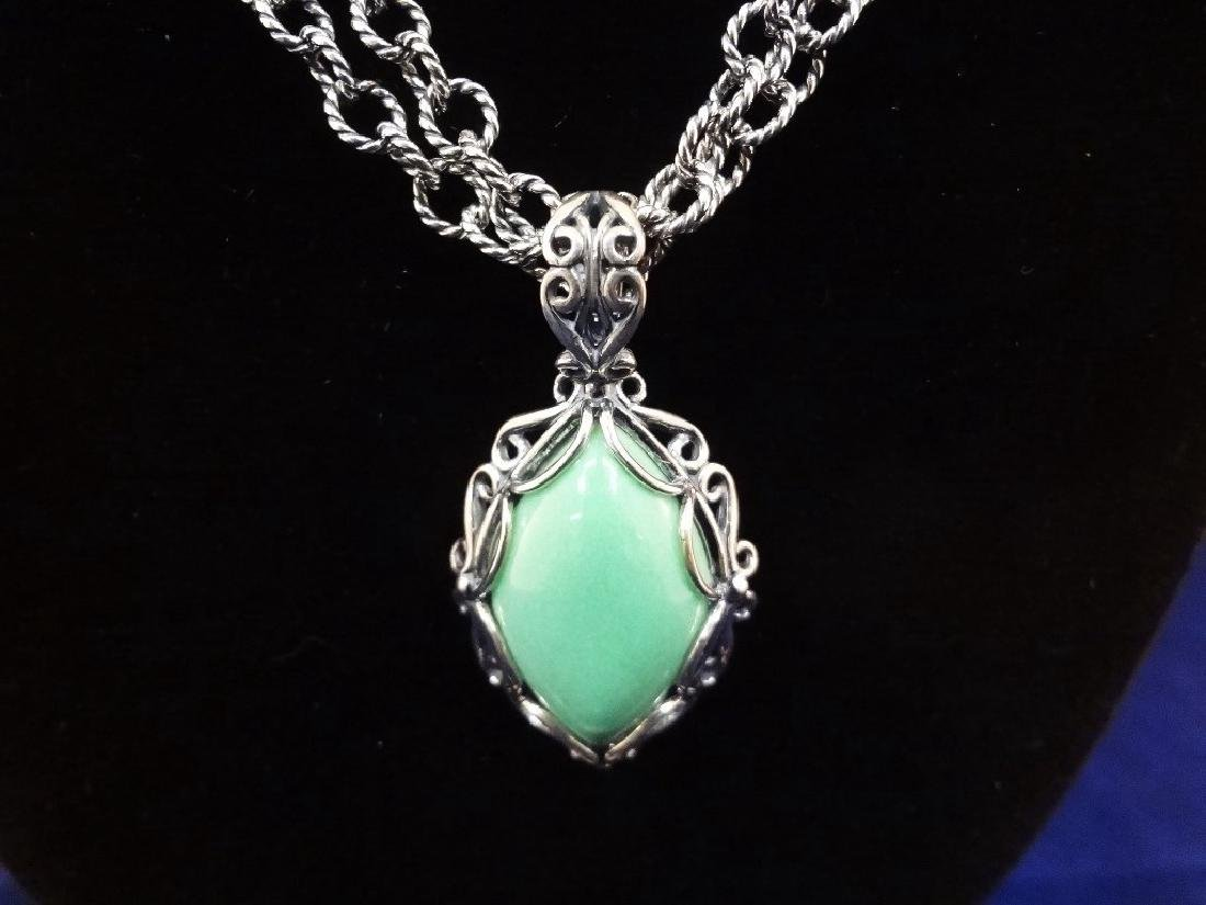 Carolyn Pollack Sterling Silver Turquoise Jewelry Suite - 2