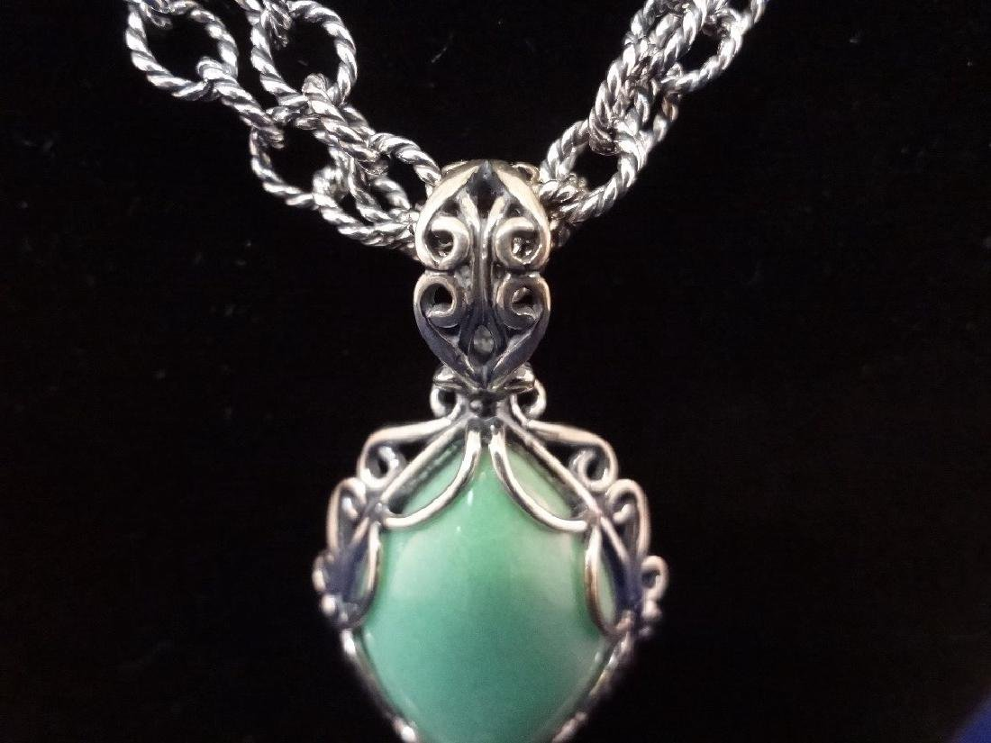 Carolyn Pollack Sterling Silver Turquoise Jewelry Suite - 3