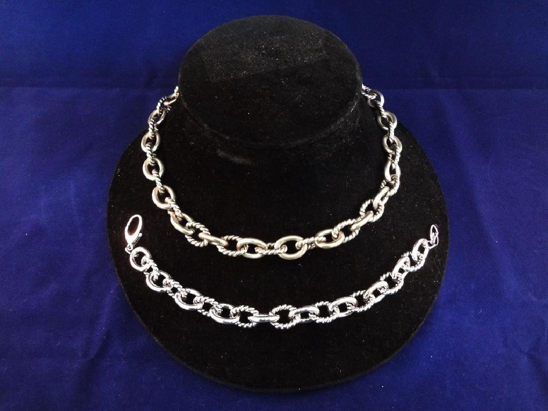 Carolyn Pollack Heavy Chunky Link Sterling Silver Chain