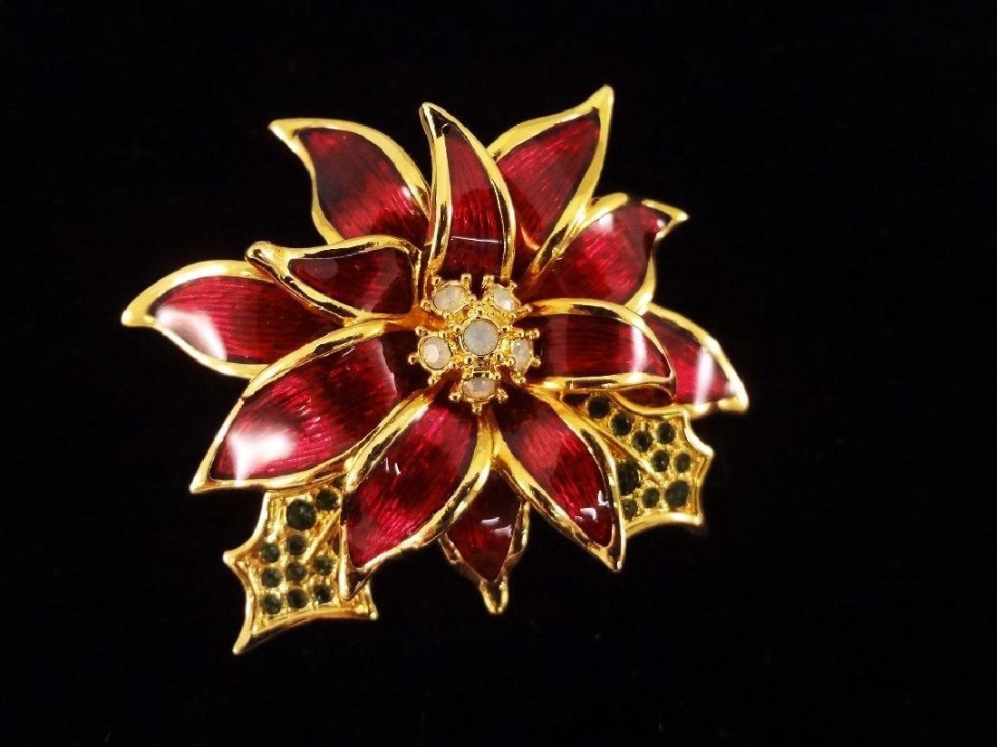 (6) Nolan Miller Enameled Rhinestone Oversize Floral - 3
