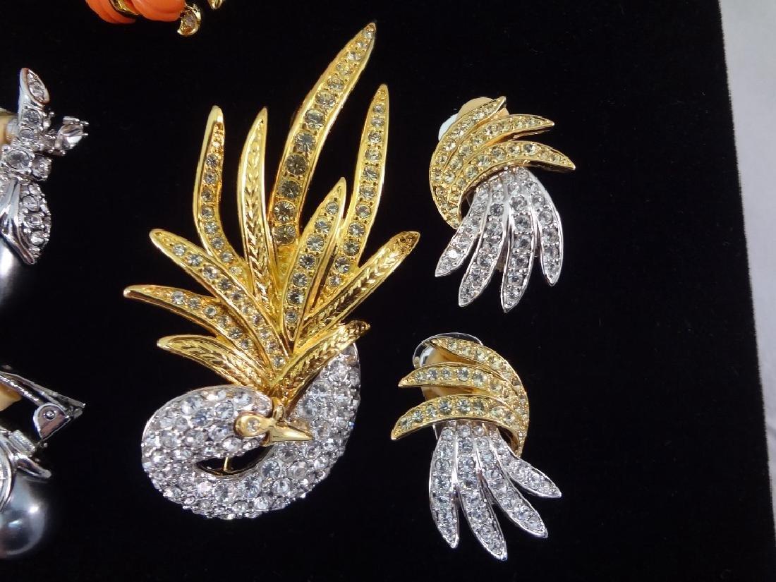 (3) Vintage Nolan Miller Brooch and Earring Sets - 2