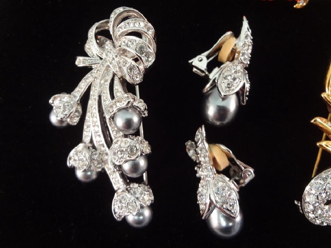 (3) Vintage Nolan Miller Brooch and Earring Sets - 3