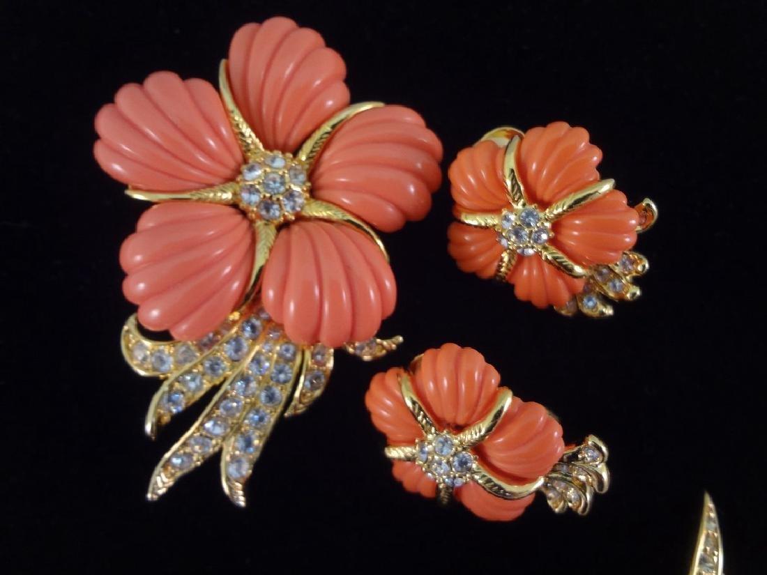 (3) Vintage Nolan Miller Brooch and Earring Sets - 4