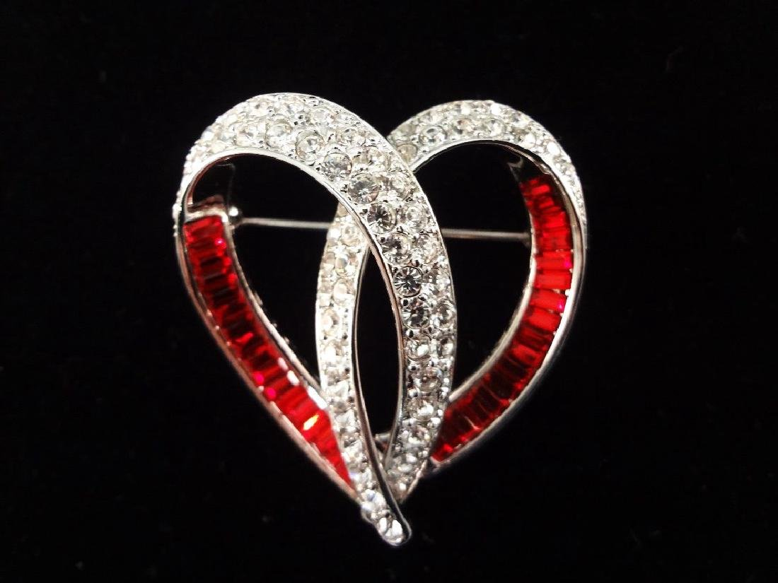 (6) Nolan Miller Heart and Bow Pendants and Brooches - 5