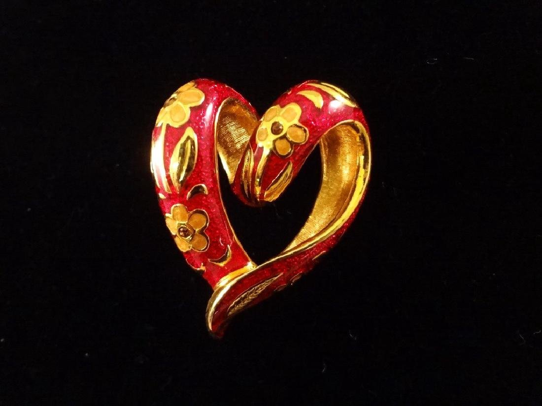 (6) Nolan Miller Heart and Bow Pendants and Brooches - 6